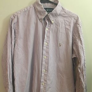 Ralph Lauren Purple Striped Button Down